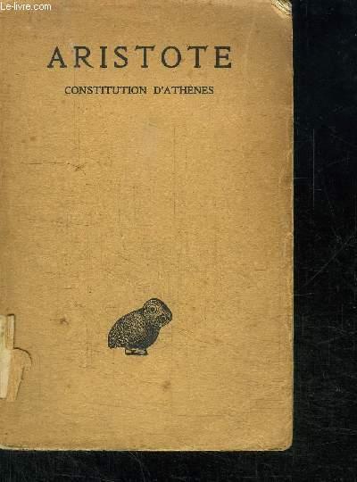 ARISTOTE CONSTITUTION D'ATHENES
