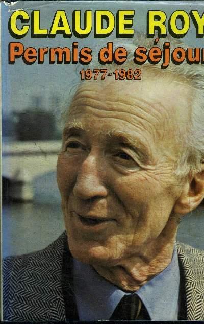 PERMIS DE SEJOUR 1977 - 1982