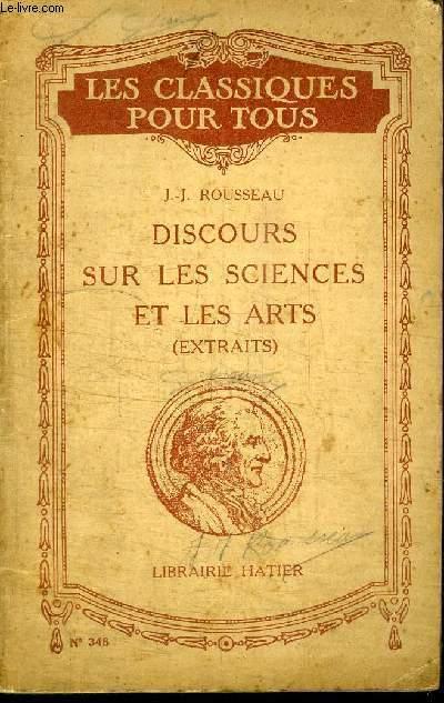 LES CLASSIQUE POUR TOUS - DISCOURS SUR LES SCIENCES ET LES ARTS (EXTRAIT)
