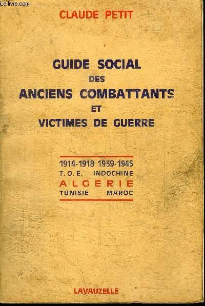 GUIDE SOCIAL DES ANCIENS COMBATTANTS ET DE VICTIMES DE GUERRE
