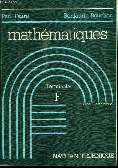 MATHEMATIQUES - TERMINALES F
