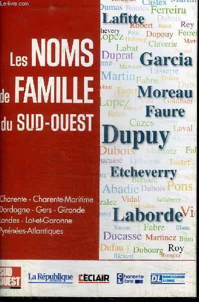 LES NOMS DE FAMILLE DU SUD-OUEST