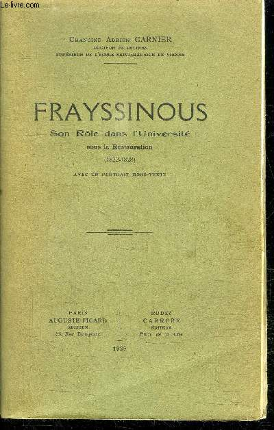 FRAYSSINOUS - SON ROLE DANS L'UNIVERSITE