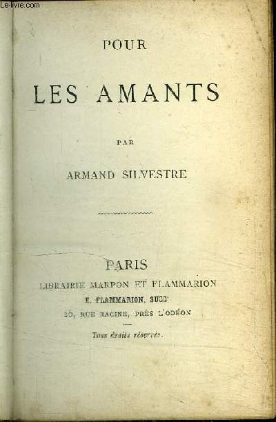 POUR LES AMANTS