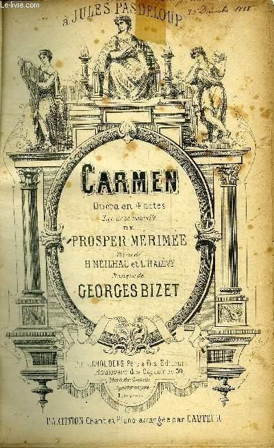 CAMREN - OPERA EN 4 ACTES - TIRE DE LA NOUVELLE DE PROSPER MERIMEE