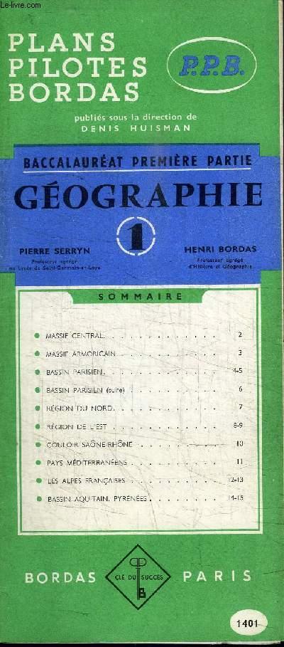 BACCALAUREAT PREMIERE PARTIE - GEOGRAPHIE - 1401