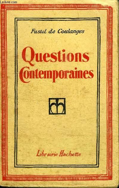 QUESTIONS CONTEMPORAINES