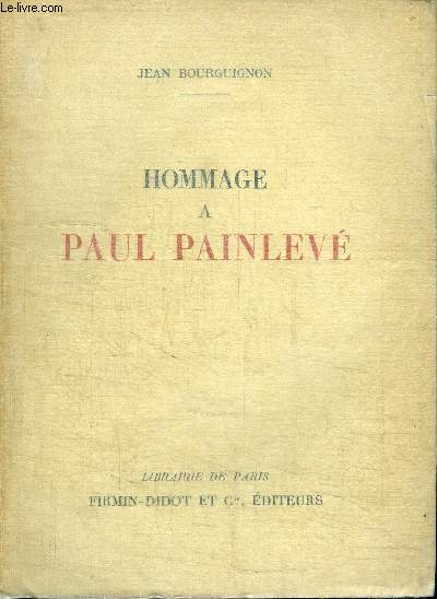 HOMMAGE A PAUL PAINLEVE