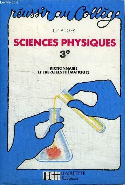 SCIENCES PHYSIQUES 3e