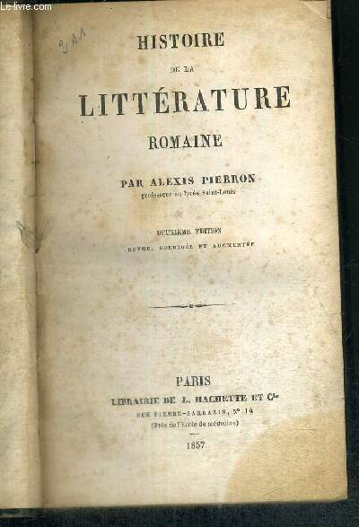 HISTOIRE DE LA LITTERATURE