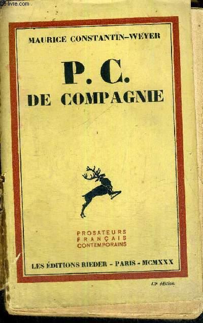 P.C. DE COMPAGNIE - COLLECTION PROSATEURS FRANCAIS CONTEMPORAINS