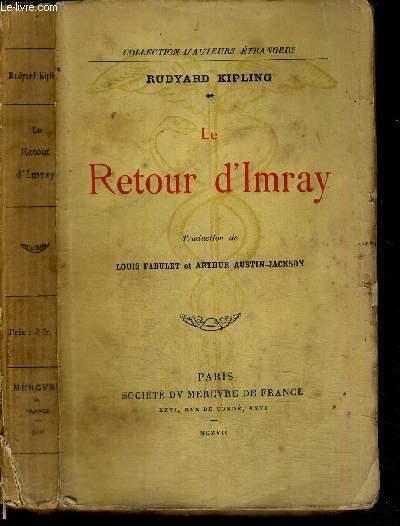 LE RETOUR D'IMRAY - COLLECTION D'AUTEURS ETRANGERS
