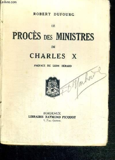 LE PROCES DES MINISTRES DE CHARLES X