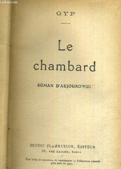 LE CHAMBARD - ROMAN D'AUJOURD'HUI
