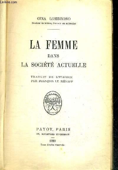 LA FEMME DANS LA SOCIETE ACTUELLE