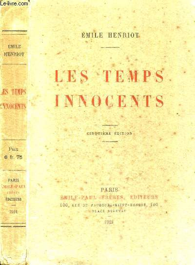 LES TEMPS INNOCENTS