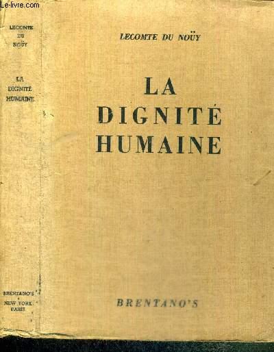 LA DIGNITE HUMAINE