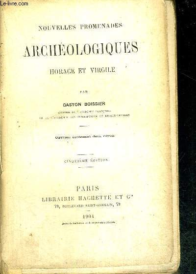 HORACE ET VIRGILE - NOUVELLES PROMENADES ARCHEOLOGIQUES