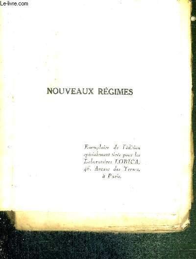 NOUVEAUX REGIMES OU L'ART D'ACCOMODER SELON LA GASTRONOMIE LES ORDONNANCES DES MEDECINS