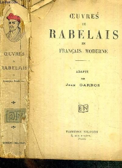 OEUVRES DE RABELAIS EN FRANCAIS MODERNE