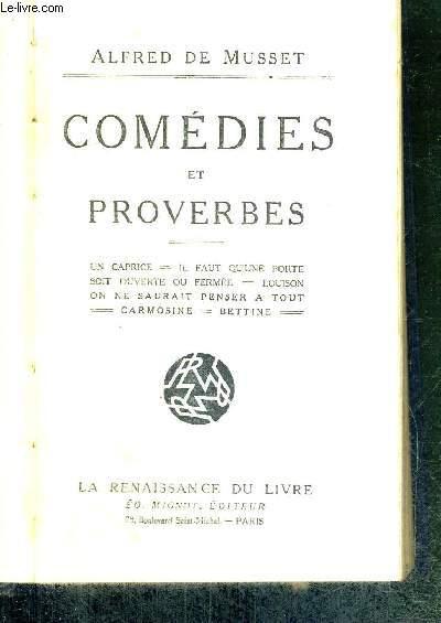 COMEDIES ET PROVERBES