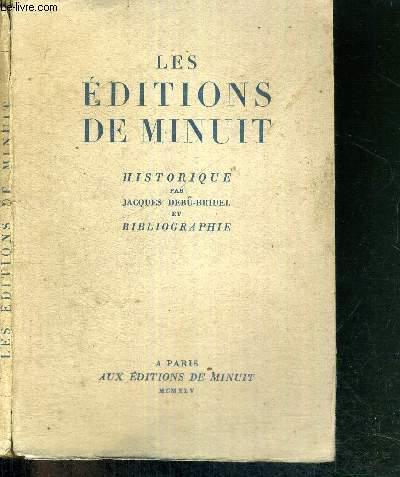 LES EDITIONS DE MINUIT - HISTORIQUE - EXEMPLAIRE NUMEROTE