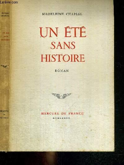 UN ETE SANS HISTOIRE
