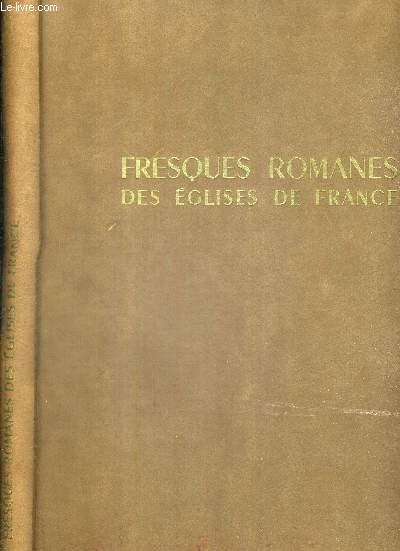 FRESQUES ROMANES DES EGLISES DE FRANCE
