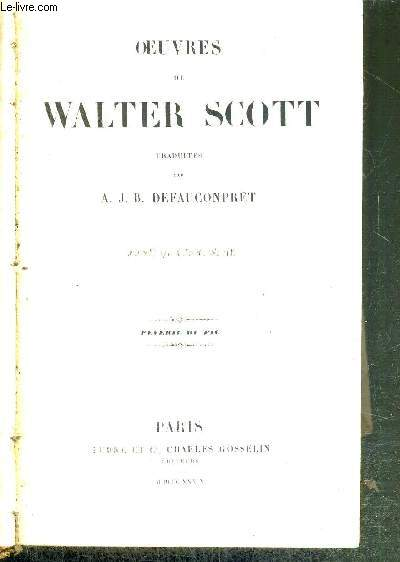 OEUVRES DE WALTER SCOTT - PEVERIL DU PIC