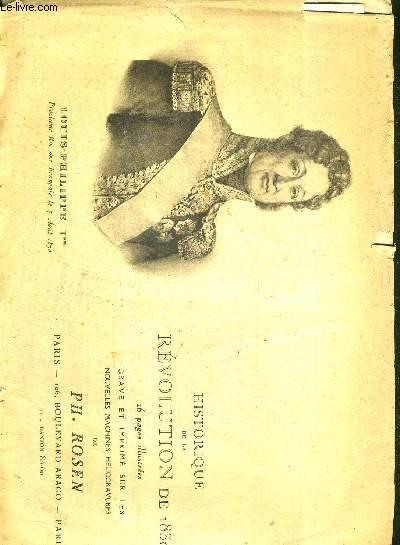 HISTORIQUE DE LA REVOLUTION DE 1830 - LOUIS-PHILIPPE 1ER