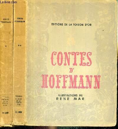 LOT DE 2 VOLUMES : CONTES D'HOFFMANN - TOME 1 + TOME 2 - Coppélius - le philosophe Angora - la fille Couleuvre - le célèbre ministre Klein-Zach - mon ami Pérégrinus.