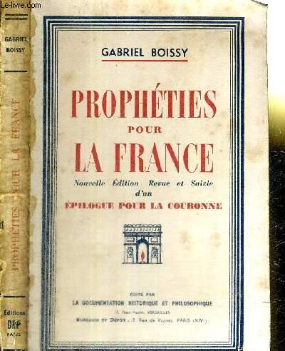 PROPHETIES POUR LA FRANCE