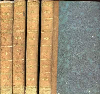 LOT DE 4 VOLUMES : OEUVRES CHOISIES DE P. CORNEILLE - TOME 1 + 2 + 3 +4