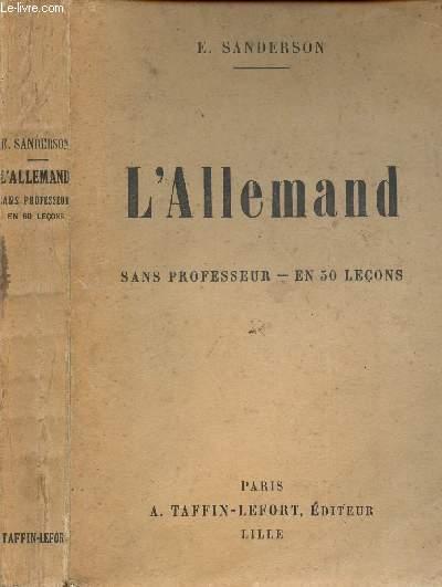 L'ALLEMAND SANS PROFESSEUR - EN 50 LECONS