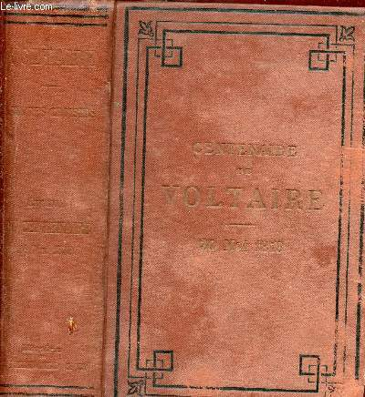 OEUVRES CHOISIES - EDITION DU CENTENAIRE 30 MAI 1878