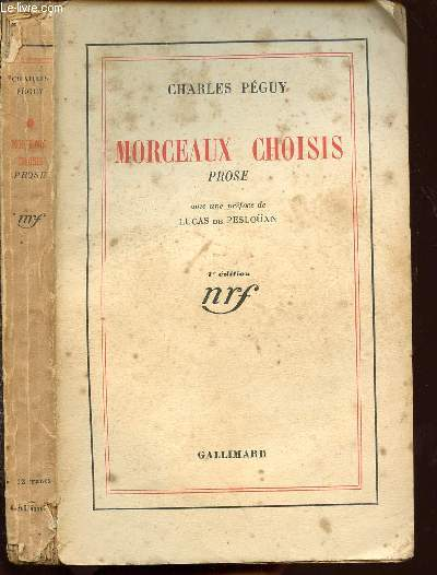 MORCEAUX CHOISIS - PROSE