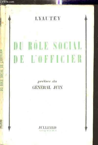 DU ROLE SOCIAL DE L OFFICIER