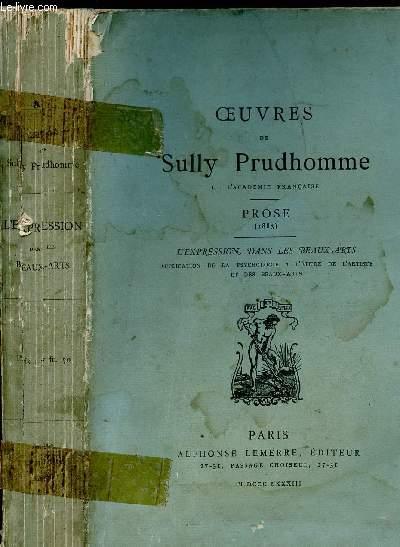 PROSE 1883 - L EXPRESSION DANS LES BEAUX ARTS : application de la psychologie à l'étude de l artiste et des beaux arts