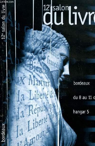 12EME SALON DU LIVRE  - BORDEAUX DU 8 AU 11 OCTOBRE 89  - HANGAR 5