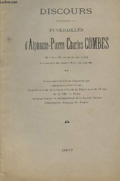 DISCOURS PRONONCES AUX FUNERAILLES D ALPHONSE PIERRE CHARLES COMBES