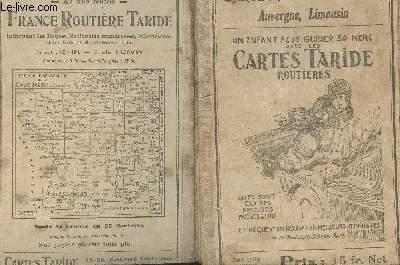 CARTE TARIDE - ROUTIERE N°15 - AUVERGNE -LIMOUSIN