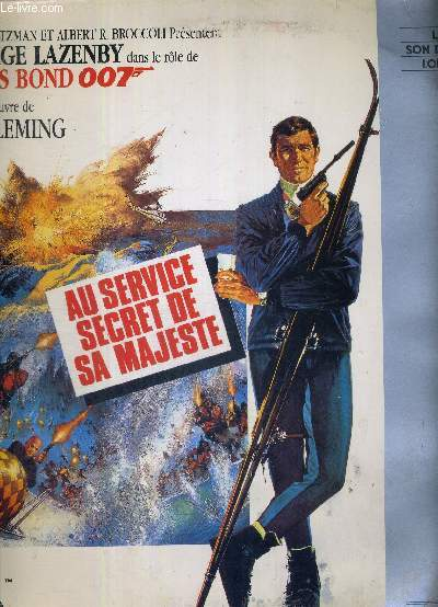 1 DOUBLE LASERDISC - JAMES BOND - 007 - AU SERVICE SECRET DE SA MAJESTE - D'APRES L'OEUVRE DE IAN FLEMING - AVEC GEORGES LAZENBY DANS LE ROLE DE JAMES BOND