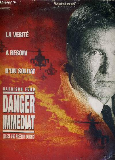 1 DOUBLE LASERDISC - DANGER IMMEDIAT (clear and present danger) - ADAPTE DU BEST SELLER DE TOM CLANCY - AVEC HARRISON FORD ET WILLEM DAFOE