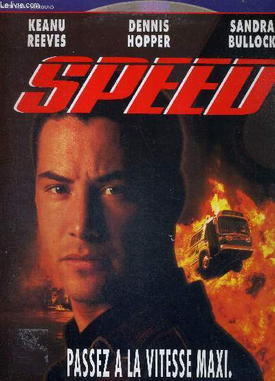 1 LASERDISC - SPEED - UN FILM DE MARK GORDON - AVEC SANDRA BULLOCK - KEANU REEVES - DENNIS HOPPER