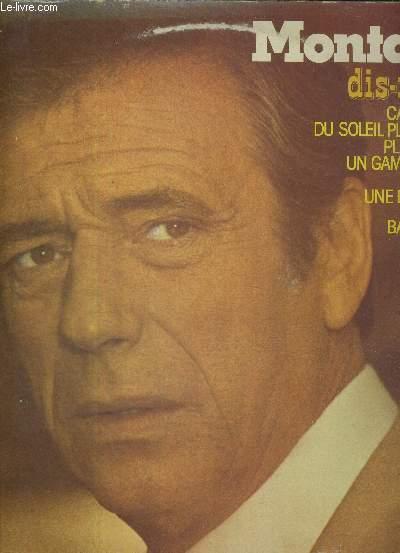 1 ALBUM DE 2 DISQUES AUDIO 33 TOURS - YVES MONTAND / Dis-moi Jo / car je t'aime / du soleil plein la tete / planter le café / un gamin de Paris / Barbara / une demoiselle / sur une balançoire...