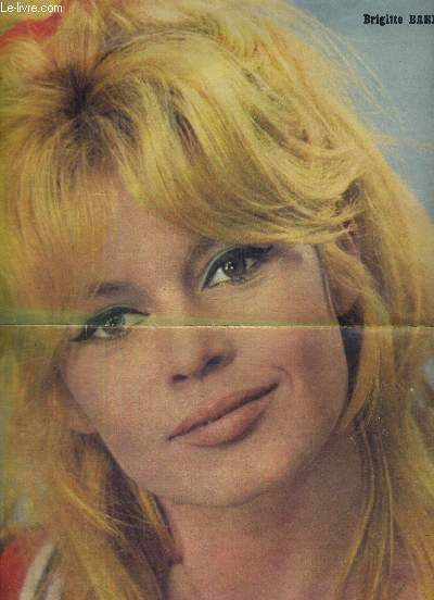 1  AFFICHE DEPLIANTE: 1 PHOTO DE BRIGITTE BARDOT + 1 PHOTO DE DANY BOY + 2 partitions (parole + musique) au verso