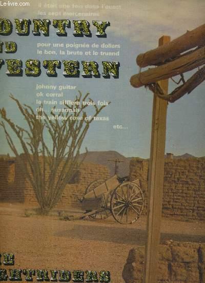 1 ALBIM DE 2 DISQUES AUDIO 33 TOURS - COUNTRY AND WESTERN - MUSIC OF THE FAR-WEST - le bleu de l'été, du film Alamo / le bon, la brute et le truand / un homme, un cheval et un pistolet / Johnny Guitar / les sept mercenaires / Rio bravo...