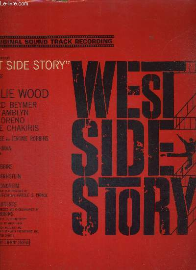 1 DISQUE AUDIO 33 TOURS - THE ORIGINAL SOUND TRACK RECORDING - WEST SIDE STORY