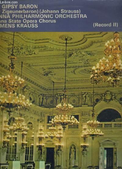 1 DISQUE AUDIO 33 TOURS - THE GIPSY BARON - VIENNA PHILHARMONIC ORCHESTRA (RECORD II)