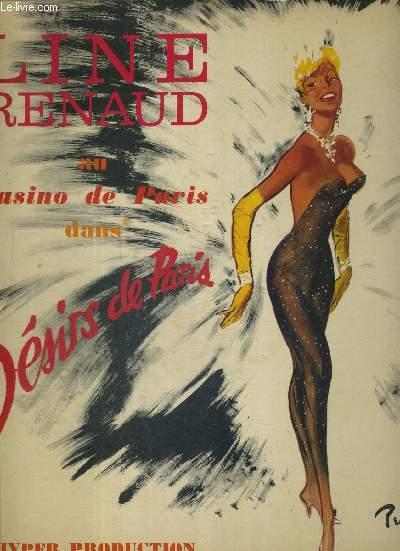 1 DISQUE AUDIO 33 TOURS - LINE RENAUD AU CASINO DE PARIS DANS